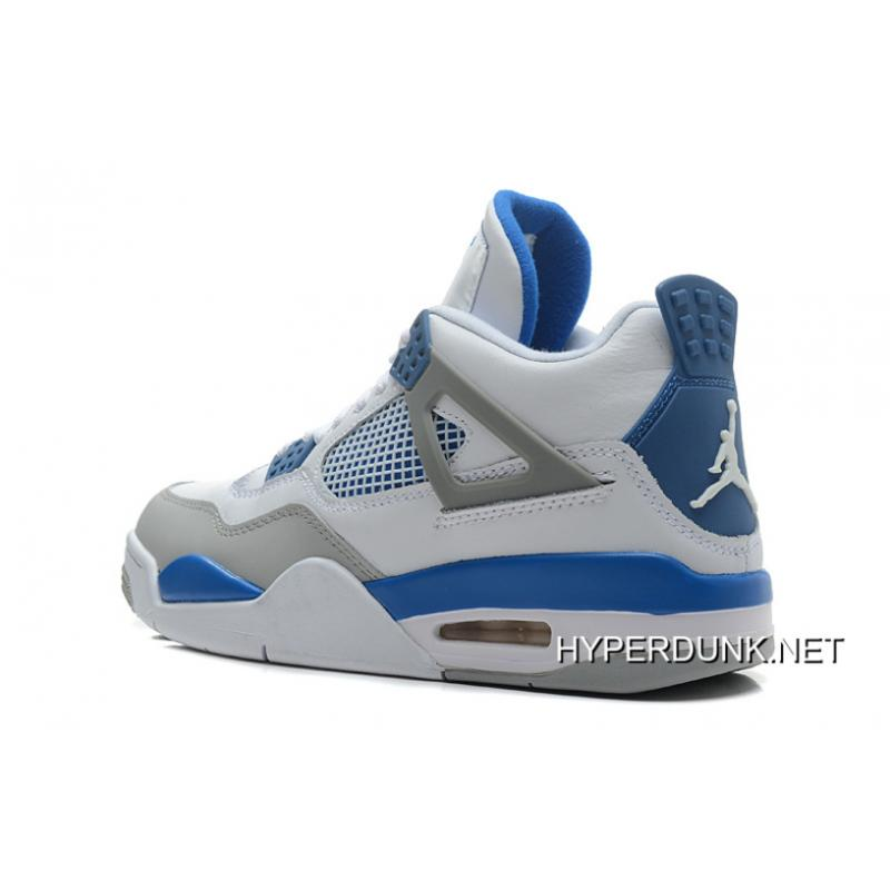 the best attitude d6fd3 bd900 Nike Air Jordan 4 Retro White/Military Blue-Neutral Grey 2019 Best
