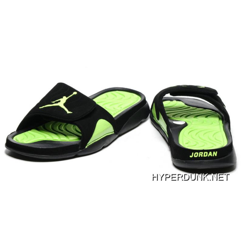 a8e6d54909f5d ... Nike Air Jordan Hydro IV Retro Black Green Slide Slippers 2019 Online  ...