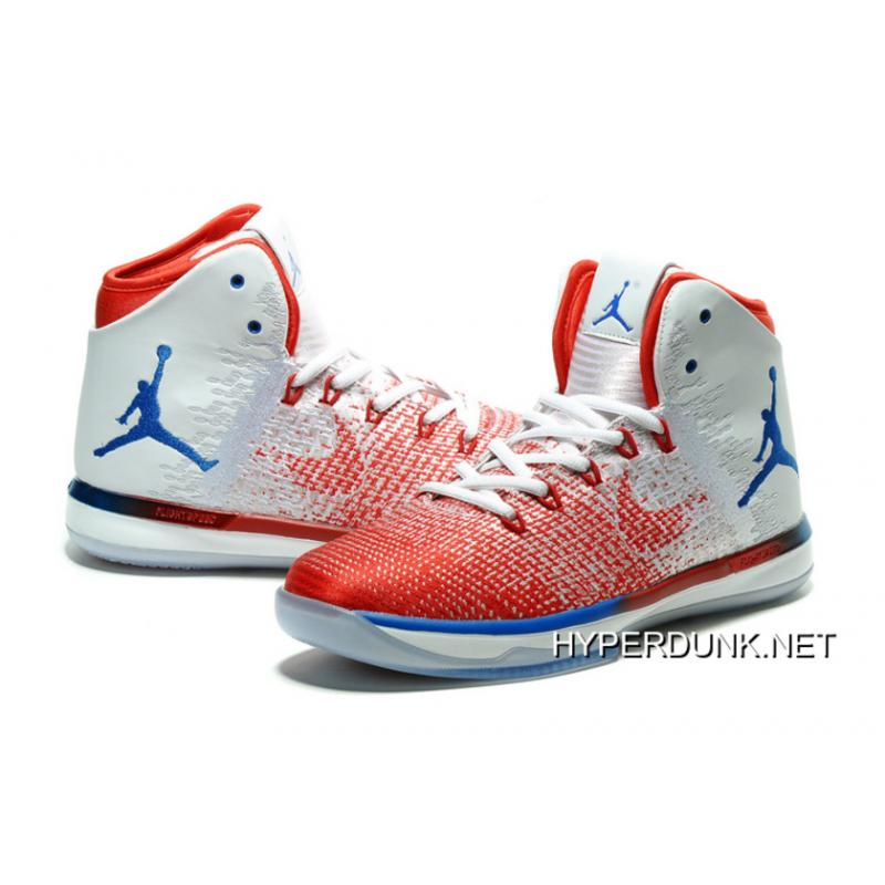 """sneakers for cheap fc008 278cb ... 2019 New Release Nike Air Jordan XXXI """"Olympics"""" USA White University  Red Deep Royal ..."""
