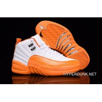 "Nike Air Jordan 12 GS ""The Glove"" White Orange 2019 Free Shipping 0585b3a7c"