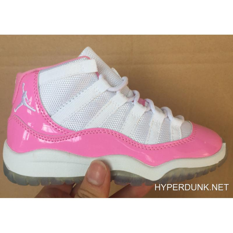 official photos 709ff 8386f Kids Nike Air Jordan 11 Pink White Online 2019 Discount