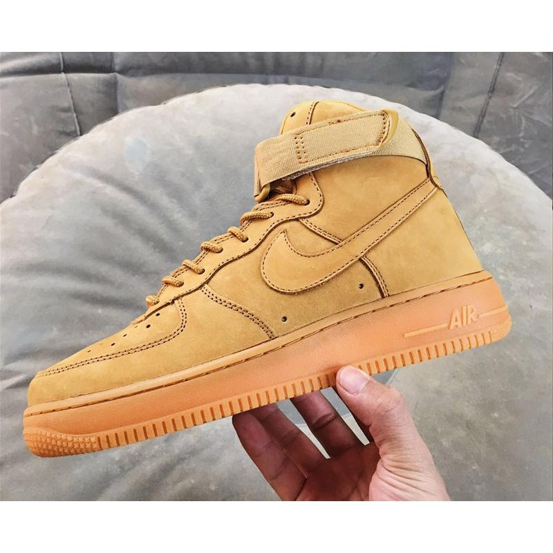 sports shoes e95f1 8cb2b ... low price for sale nike air force 1 high wheat flax flax outdoor green  22fda 7b714