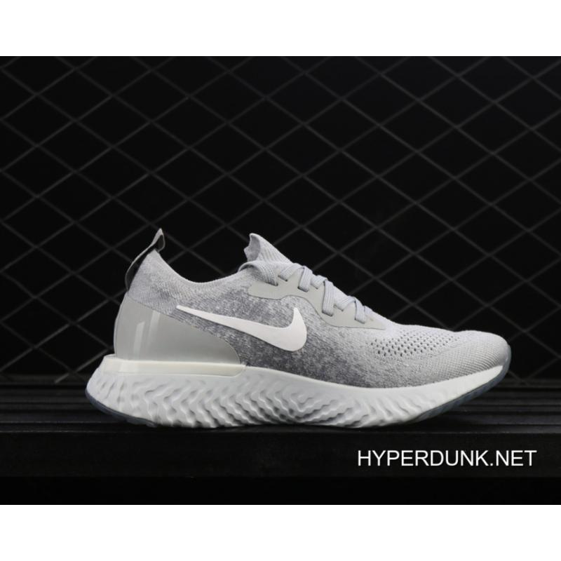 5114bbf2900 ... 2019 For Sale Nike Epic React Flyknit Running Shoes Wolf Grey Cool  Grey Pure ...