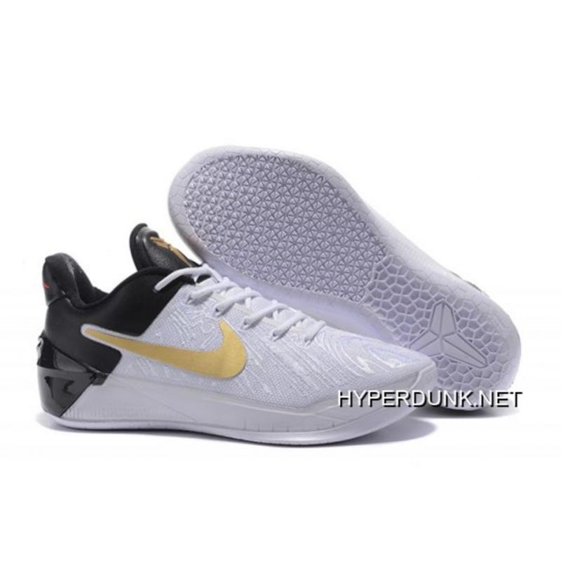 brand new 5d9c6 c3df6 Nike Kobe AD  BHM  White Black Metallic Gold Free Shipping ...