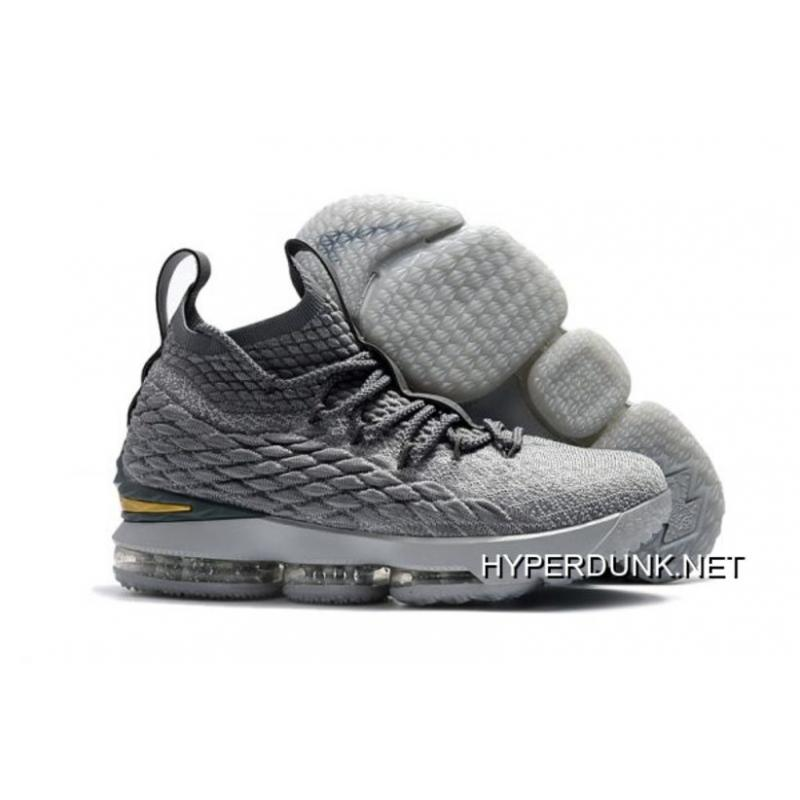 Nike LeBron 15 City Edition Grey Gold Top Deals