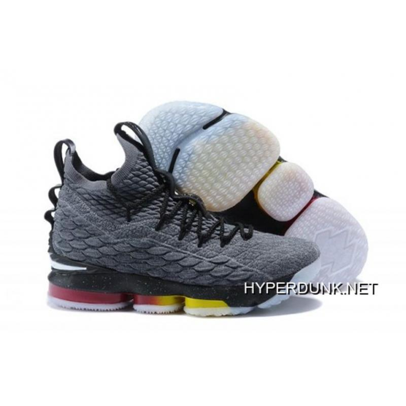 de1a6a6bf6c 2019 New Year Deals Nike LeBron 15 Dark Grey And Black Muti-Color ...