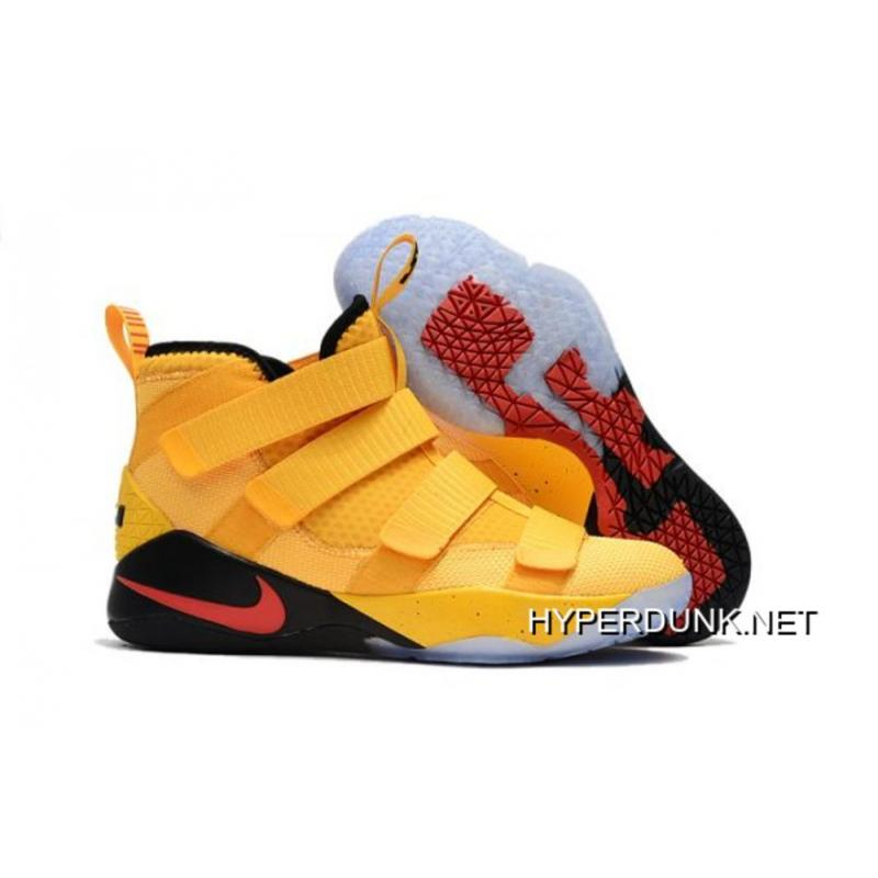 7e0c32c5e26 Nike LeBron Soldier 11 PE Yellow Black And Red Online ...