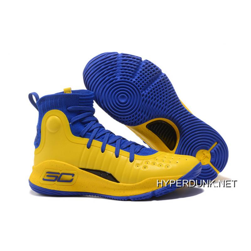 Under Armour Curry 4 Yellow/Blue Black