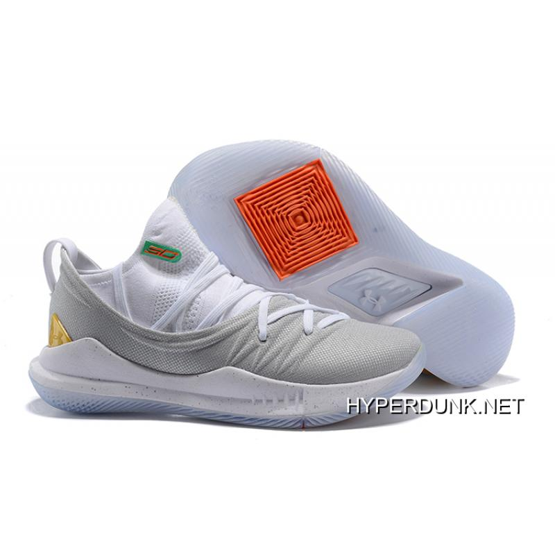 """Under Armour Curry 5 """"Gold Pack"""" White"""