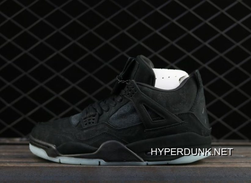 newest 31efb 2ea3e KAWS X Air Jordan 4 Black Suede 2019 New Style