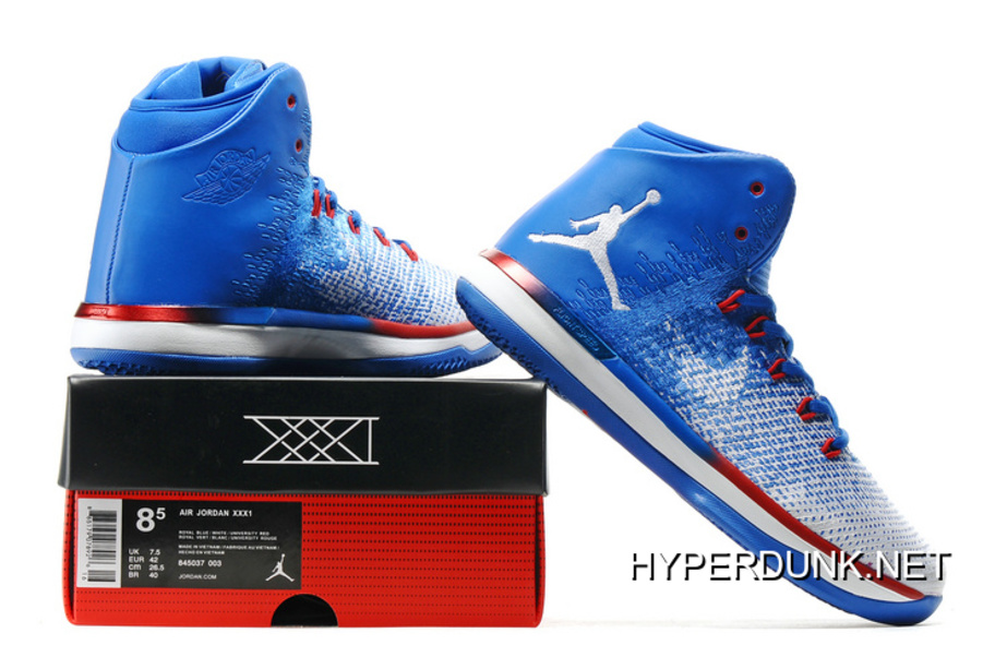 "best service 2543f 74445 Nike Air Jordan XXXI ""Olympics"" USA Deep Royal Blue White University Red  2019 Free"