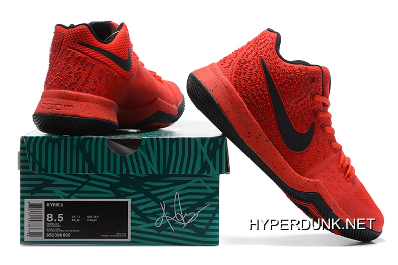 For Sale Nike Kyrie 3 University Red And Black-Team Red