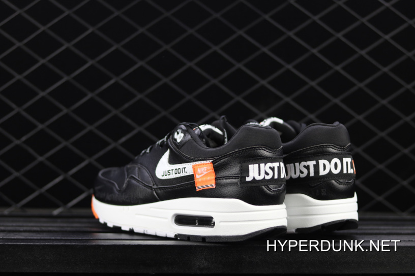 first rate 9a07d e9896 Nike Air Max 1 Low 'Just Do It' Black And White Big Discount