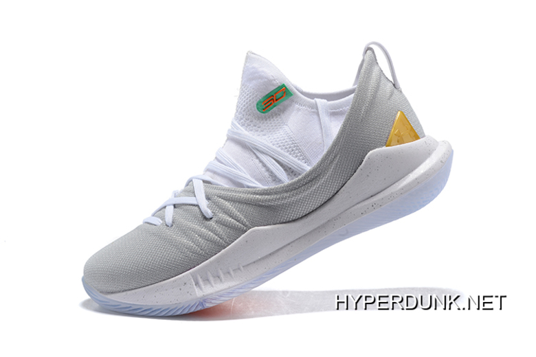 curry 5 gold and white